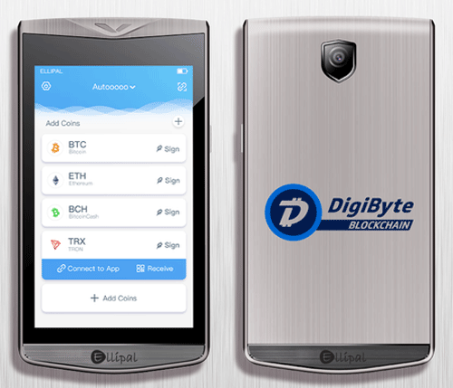 DigiByte-Ellipal-Wallet